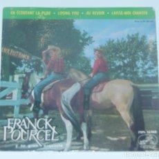 Discos de vinilo: FRANCK POURCEL * EN ECOUTANT LA PLUIE * LOSING YOU * AU REVOIR * LAISSE-MOI CHANTER * EP 1963. Lote 179052975