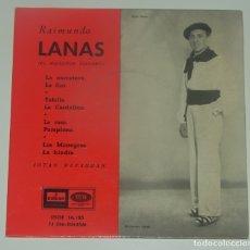 Discos de vinilo: RAIMUNDO LANAS - EL RUISEÑOR NAVARRO - EMI-ODEON DSOE 16.185 - 1958. Lote 179053417