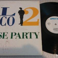 Discos de vinilo: EL CHICO 2 / HOUSE PARTY / MAXI-SINGLE 12 INCH. Lote 179054237