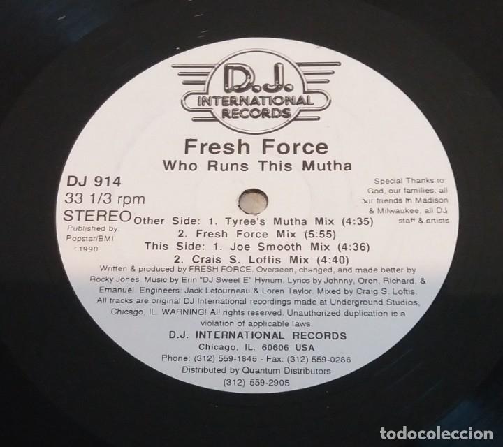 FRESH FORCE / WHO RUNS THIS MUTHA / MAXI-SINGLE 12 INCH (Música - Discos de Vinilo - Maxi Singles - Rap / Hip Hop)