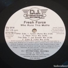 Discos de vinilo: FRESH FORCE / WHO RUNS THIS MUTHA / MAXI-SINGLE 12 INCH. Lote 179054425