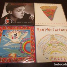 Discos de vinilo: PAUL MCCARTNEY - 4 SINGLES - PRESS + THIS ONE + ONCE UPON AGO + ONLY LOVE REMAINS. Lote 136436986