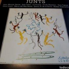 Discos de vinilo: DISC JUNTS. PORTADA DE PABLO PICASSO. SERRAT, ISAAC, LA TRINCA, MONTLLOR, TAPIAS, LLACH, BONET.... Lote 179063476