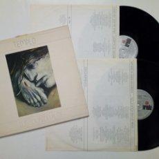 Discos de vinilo: 2 LP: LUIS EDUARDO AUTE - TEMPLO (ARIOLA, 1987) - DOBLE LP -. Lote 179065882