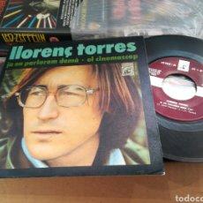 Discos de vinilo: LLORENC TORRES SINGLE JA EN PARLAREM DEMA 1971. Lote 179072135