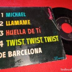 Discos de vinilo: LOS 4 CUATRO DE BARCELONA MICHAEL/TWIST TWIST TWIST/LLAMAME +1 EP 1962 DISCOPHON. Lote 179079328