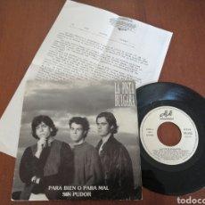Discos de vinilo: LA PISTA BÚLGARA PARA BIEN O PARA MAL PROMO JA JA RECORDS 1989. Lote 179079570