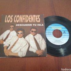 Discos de vinilo: LOS CONFIDENTES DESCUBRIR TU ISLA FONOMUSIC 1991. Lote 179079796