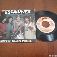 Disques de vinyle: ESCALONES SÁLVESE QUIÉN PUEDA PDI 1988. Lote 179083558