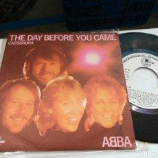 Discos de vinilo: ABBA SINGLE PROMOCIONAL THE DAY BEFORE YOU CAME ESPAÑA 1982. Lote 179083898