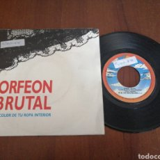 Disques de vinyle: ORFEÓN BRUTAL EL COLOR DE TU ROPA INTERIOR SANNI RECORDS 1989. Lote 179084265