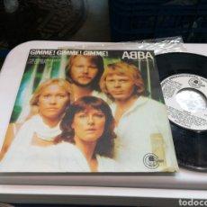 Discos de vinilo: ABBA SINGLE PROMOCIONAL GIMME! GIMME! GIMME! ESPAÑA 1979. Lote 179084620