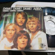 Discos de vinilo: ABBA SINGLE PROMOCIONAL DAME! DAME! DAME! ESPAÑA 1980. Lote 179084985