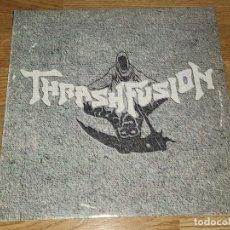 Discos de vinilo: THRASHFUSION LP *MEGA RARE*SPANISH HEAVY 1994 -CROM-MURO-MEPHISTO-EXODO-ASPID-EXCALIBUR. Lote 179088787