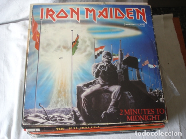 Discos de vinilo: Iron Maiden 2 Minutes To Midnight - Foto 1 - 179089797