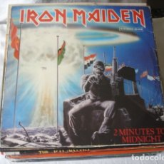Discos de vinilo: IRON MAIDEN 2 MINUTES TO MIDNIGHT. Lote 179089797