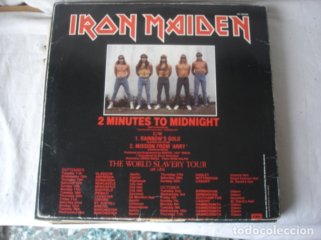 Discos de vinilo: Iron Maiden 2 Minutes To Midnight - Foto 2 - 179089797