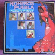 Discos de vinilo: LP - SEVILLANAS - LOS ROMEROS DE LA PUEBLA - ORILLA DE CANTARES (SPAIN, HISPAVOX 1991). Lote 179089885