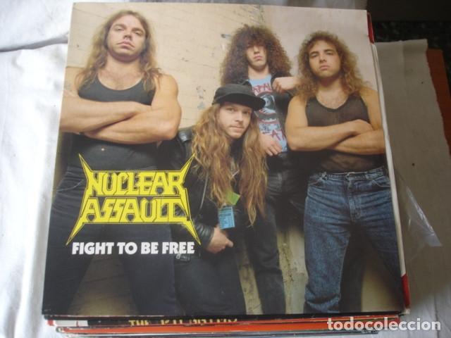 NUCLEAR ASSAULT FIGHT TO BE FREE (Música - Discos de Vinilo - Maxi Singles - Heavy - Metal)