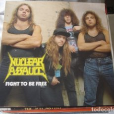 Discos de vinilo: NUCLEAR ASSAULT FIGHT TO BE FREE . Lote 179089905