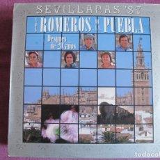 Discos de vinilo: LP - SEVILLANAS - LOS ROMEROS DE LA PUEBLA - DESPUES DE 20 AÑOS (SPAIN, HISPAVOX 1987). Lote 179090017