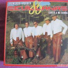 Discos de vinilo: LP - SEVILLANAS - LOS ROMEROS DE LA PUEBLA - CANTO A MI TIERRA (SPAIN, HISPAVOX 1986). Lote 179090120