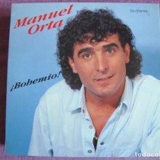 Discos de vinilo: LP - SEVILLANAS - MANUEL ORTA - BOHEMIO (SPAIN, FODS RECORDS 1990). Lote 179090397