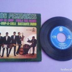 Discos de vinilo: JOYA/MUY RARO EP.1963.LOS PEKENIKES ( CANTA JUNIOR )LOOP DE LOOP/BE BOP A LULA/+2 HISPAVOX.HH 17 249. Lote 179090726