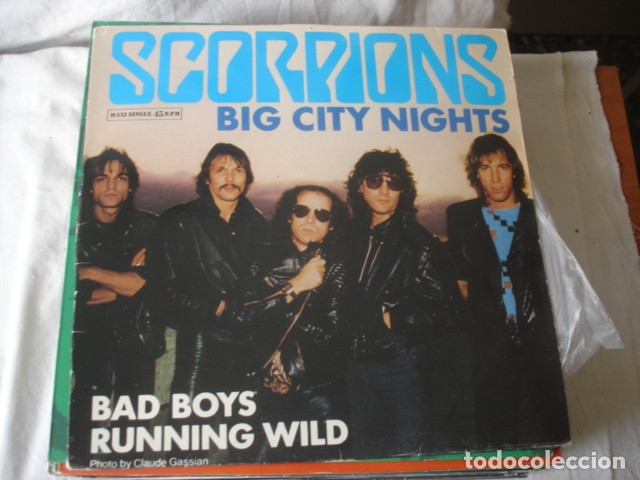SCORPIONS BIG CITY NIGHTS (Música - Discos de Vinilo - Maxi Singles - Heavy - Metal)