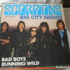 Discos de vinilo: SCORPIONS BIG CITY NIGHTS. Lote 179091107