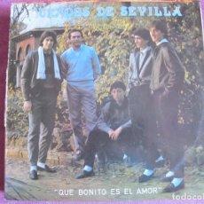 Discos de vinilo: LP - SEVILLANAS - DUENDES DE SEVILLA - QUE BONITO ES EL AMOR (SPAIN, FONORUZ 1985). Lote 179091215