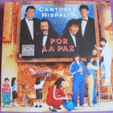 Discos de vinilo: LP - SEVILLANAS - CANTORES DE HISPALIS - POR LA PAZ (DOBLE DISCO, SPAIN, HISPAVOX 1988). Lote 179091478