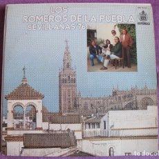 Discos de vinilo: LP - SEVILLANAS - LOS ROMEROS DE LA PUEBLA - SEVILLANAS 76 (SPAIN, HISPAVOX 1976). Lote 179091993