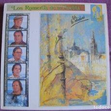 Discos de vinilo: LP - SEVILLANAS - LOS ROMEROS DE LA PUEBLA - NO TE OLVIDARE (SPAIN, HISPAVOX 1990). Lote 179092088