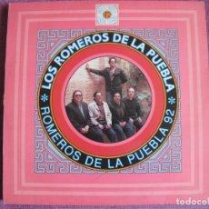 Discos de vinilo: LP - SEVILLANAS - LOS ROMEROS DE LA PUEBLA - SEVILLANAS 92 (SPAIN, HISPAVOX 1992). Lote 179092237