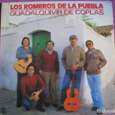 Discos de vinilo: LP - SEVILLANAS - LOS ROMEROS DE LA PUEBLA - GUADALQUIVIR DE COPLAS (SPAIN, HISPAVOX 1982). Lote 179092610