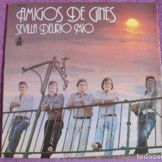 Discos de vinilo: LP - SEVILLANAS - AMIGOS DE GINES - SEVILLA DELIRIO MIO (SPAIN, HISPAVOX 1979). Lote 179092772