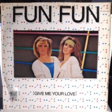 Discos de vinilo: FIN AFUN- GIVE ME YOUR LOVE/TELL ME. Lote 179094420