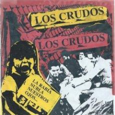 Discos de vinilo: LOS CRUDOS,'LA RABIA NUBLA NUESTROS OJOS' (EP 6 TEMAS LENGUA ARMADA 1993) GATEFOLD-VINILO COLOR. Lote 179095768