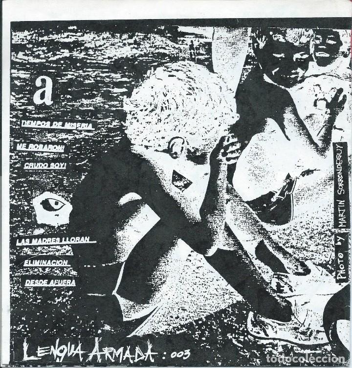 Discos de vinilo: LOS CRUDOS,LA RABIA NUBLA NUESTROS OJOS (EP 6 TEMAS LENGUA ARMADA 1993) GATEFOLD-VINILO COLOR - Foto 5 - 179095768