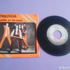 Discos de vinilo: MUY RARO SINGLE.HEAVY METAL. TRILOGIA - SUEÑO DE UN VIAJE / MALPENSADO.H 33044 CHAPA DISCOS AÑO1980. Lote 179096791