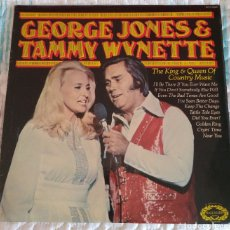 Discos de vinilo: GEORGE JONES & TAMMY WYNETTE - THE KING & QUEEN OF COUNTRY MUSIC. Lote 179100040