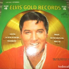 Discos de vinilo: ELVIS PRESLEY - GOLDEN RECORDS VOLUME 4 LP - ORIGINAL U.S.A. - RCA 1968 CIN FUNDA INT. ORIGINAL. Lote 179111718