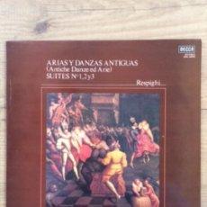Discos de vinilo: RESPIGI, ARIAS Y DANZAS ANTIGUAS SUIYES NR. 1,2 Y 3, LONDON PHILHALARMPNIC ORCHESTRA, J. LOPEZ-COBOS. Lote 179117242