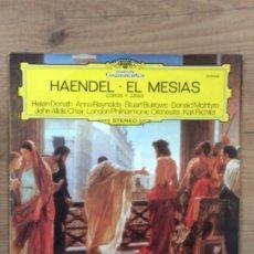 Discos de vinilo: HAENDEL - EL MESIAS COROS Y ARIAS / LP DEUTSCHE GRAMMOPHON DE 1977 RF-584. Lote 179117846