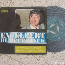 Discos de vinilo: DISCO SINGLE DE ENGELBERT HUMPERDINCK ,LES BICYCLETTES DE BELSIZE. Lote 179122096