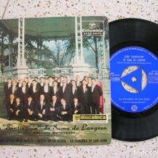 Discos de vinilo: DISCO CORO SANTIAQUIN DE SAMA DE LANGREO , EP AÑO 1967. Lote 179125007
