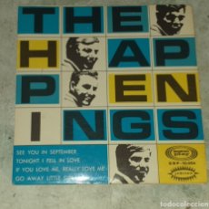 Discos de vinilo: THE HAPPENINGS: SEE YOU IN SEPTEMBER + 3 (JUBILEE SONOPLAY 1967). Lote 179125918