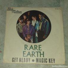 Discos de vinilo: RARE EARTH: GET READY / MAGIC KEY (TAMLA MOTOWN COLUMBIA 1970). Lote 179126087