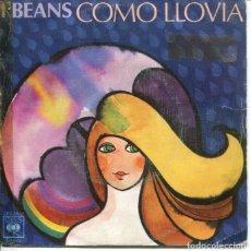 Discos de vinilo: I BEANS / COMO LLOVIA / YO LA CONOZCO (SINGLE 1976). Lote 179128506